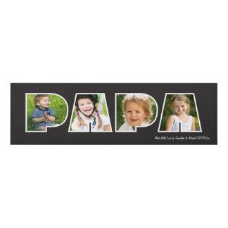 PAPA Photo Gift Frame- Black Panel Wall Art