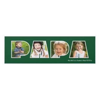 PAPA Photo Gift Frame- Green Panel Wall Art