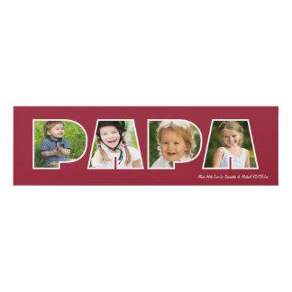 PAPA Photo Gift Frame- Red Panel Wall Art