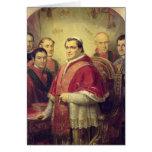 Papa Pío IX 1847 Tarjeta De Felicitación
