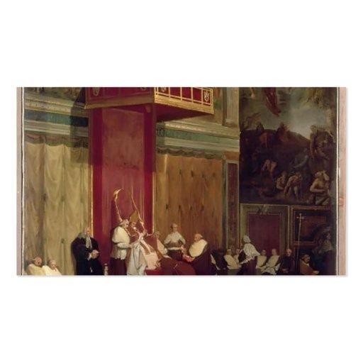 Papa Pío VII de Jean Ingres- que asiste a la capil Plantillas De Tarjetas De Visita