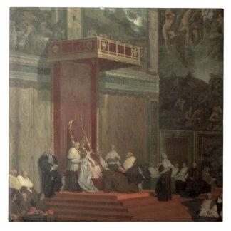 Papa Pío VII (Luigi Barnaba Chiaramonti) (1742-18 Azulejo Cuadrado Grande