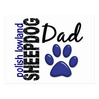 Papá polaco 2 del perro pastor de la tierra baja postal