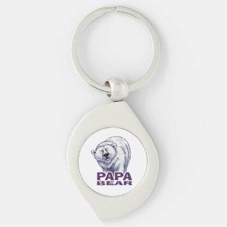 Papa Polar Bear Keychain