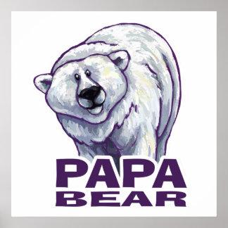 Papa Polar Bear Poster