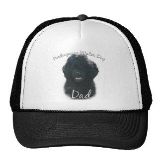 Papá portugués 2 del perro de agua gorras