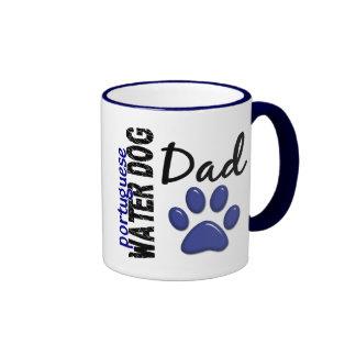 Papá portugués 2 del perro de agua taza de dos colores