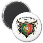Papá portugués del número uno iman de nevera