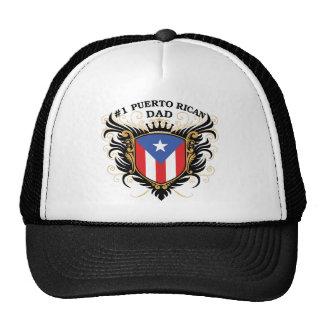 Papá puertorriqueño del número uno gorros
