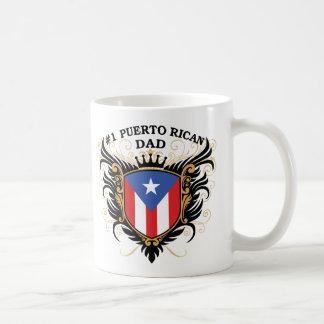 Papá puertorriqueño del número uno tazas de café