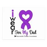 Papá púrpura de la ayuda de la cinta del cáncer pa postales