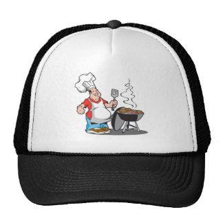 papá que cocina en la parrilla gorras