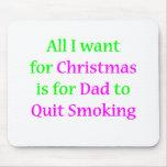 Papá que fuma abandonado 2 alfombrilla de ratones