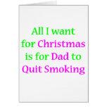 Papá que fuma abandonado 2 felicitacion