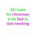 Papá que fuma abandonado 2 postales