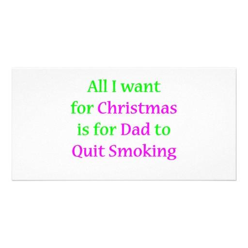 Papá que fuma abandonado 2 tarjeta personal con foto