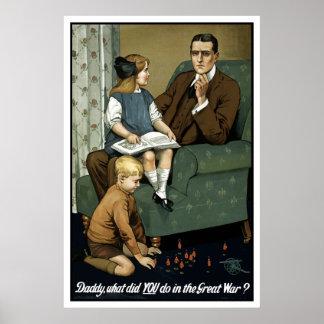 ¿Papá qué usted hizo en la gran guerra Impresiones