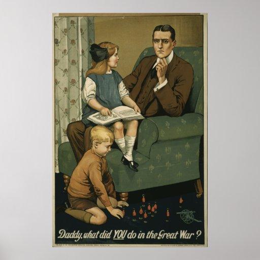 ¿Papá, qué USTED hizo en la gran guerra? Póster