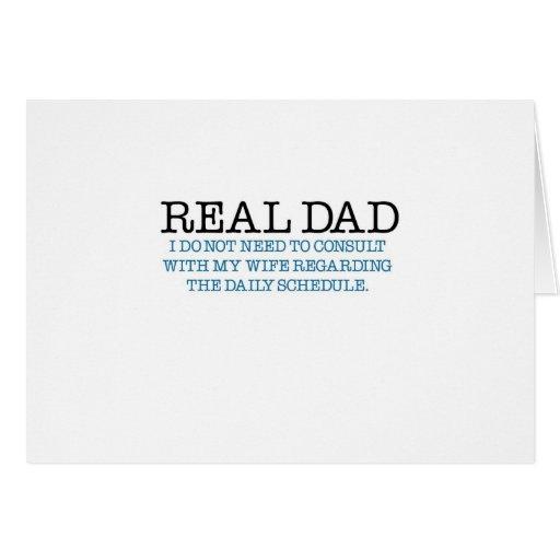 Papá real (pañal azul) felicitacion