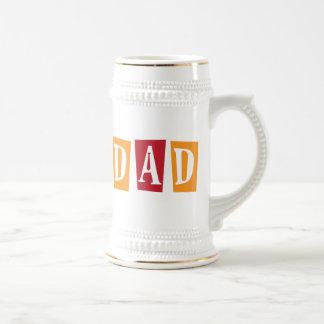 Papá retro jarra de cerveza