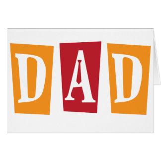 Papá retro felicitación