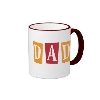 Papá retro taza de dos colores