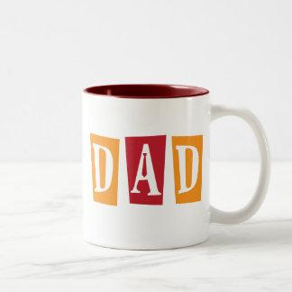 Papá retro taza de dos tonos