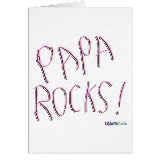Papa Rocks! Greeting Card