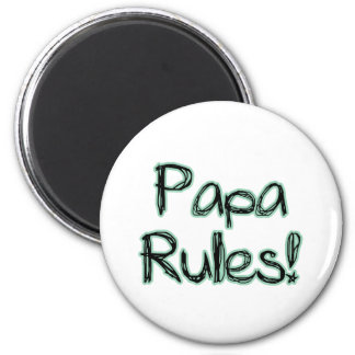 Papa Rules 2 Inch Round Magnet