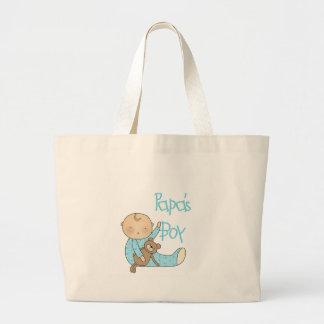 Papa s Boy Canvas Bags