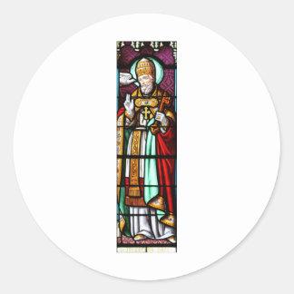 Papa Saint Gregory el grande - vitral Etiquetas