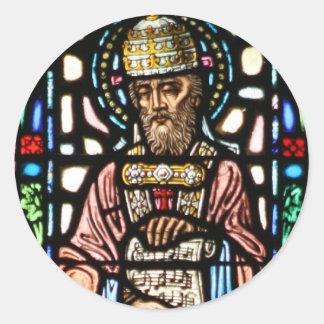 Papa Saint Gregory el grande - vitral Pegatinas
