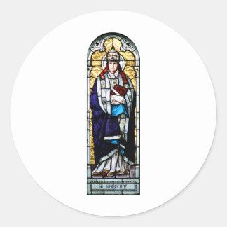 Papa Saint Gregory el grande - vitral Pegatinas Redondas