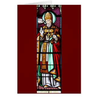 Papa Saint Gregory el grande - vitral Tarjetas
