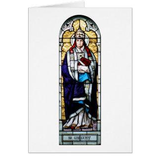 Papa Saint Gregory el grande - vitral Felicitaciones