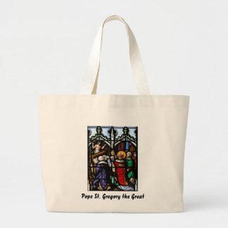 Papa Saint Gregory la gran masa de donante Bolsa Tela Grande