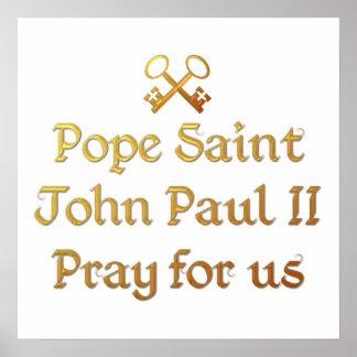 Papa San Juan Paulo II ruega para nosotros Impresiones