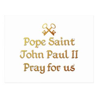 Papa San Juan Paulo II ruega para nosotros Postal
