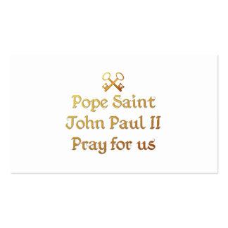 Papa San Juan Paulo II ruega para nosotros Tarjetas De Visita