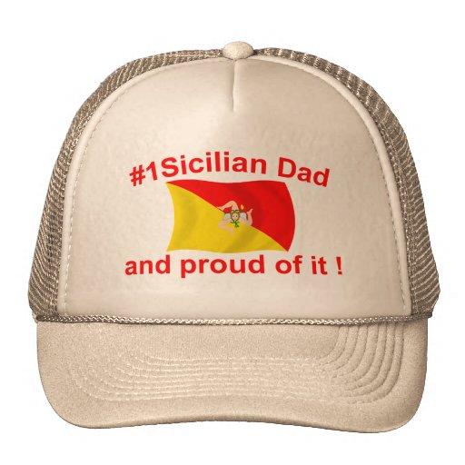 Papá siciliano orgulloso #1 gorras