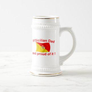 Papá siciliano orgulloso #1 jarra de cerveza
