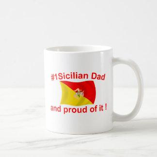 Papá siciliano orgulloso #1 taza