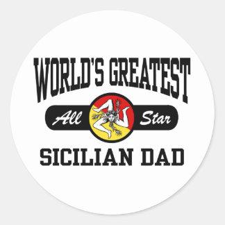 Papá siciliano pegatina redonda