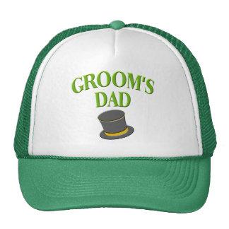 papá - sombrero de copa del novio gorros
