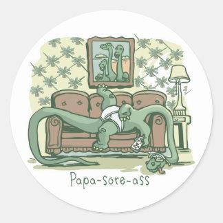 Papa-Sore-Ass Stickers