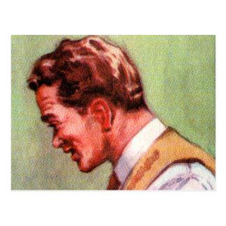 Papá suburbano 50s del vintage del kitsch del arte postales