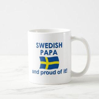 Papá sueca orgullosa tazas de café