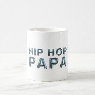 Papá SUPERIOR de Hip Hop Taza Básica Blanca
