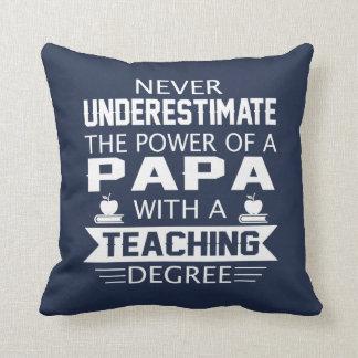 Papa Teacher Throw Pillow