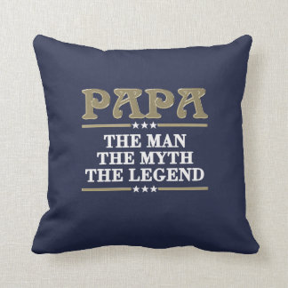 PAPA The Legend Throw Pillow